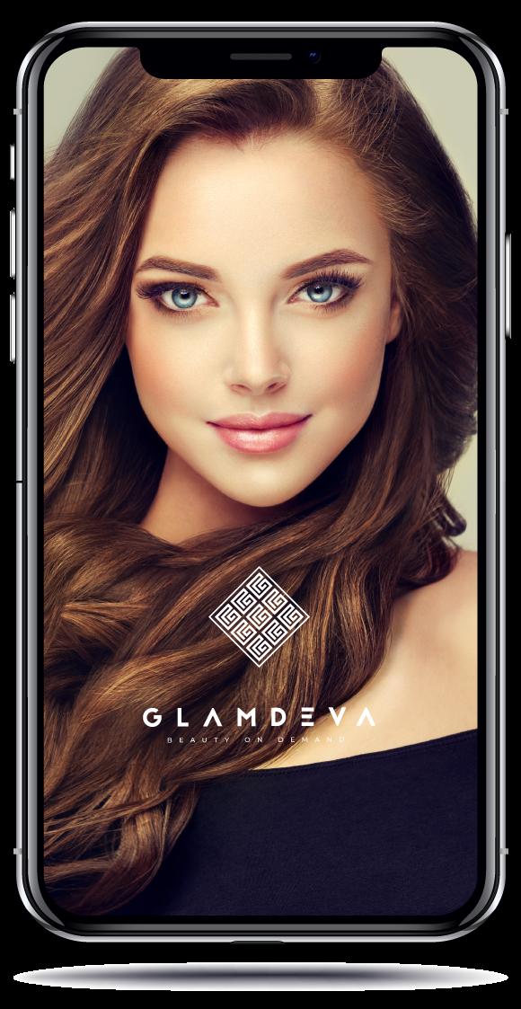 Glamdeva app mockup