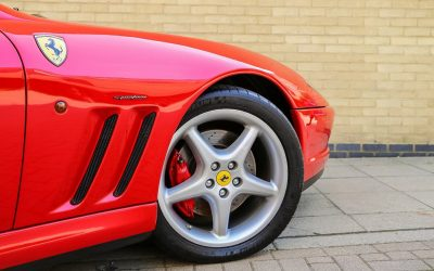 Being chauffeur driven in a Ferrari